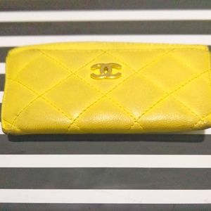 CHANEL Accessories - Chanel Caviar Leather Card Holder